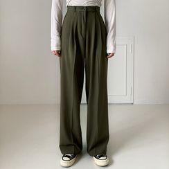 Envy Look - Pintuck-Front Dress Pants
