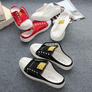 Tanzanite - Canvas Platform Sneaker Mules