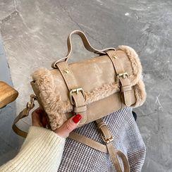 JAMEL - Fluffy Trim Crossbody Bag