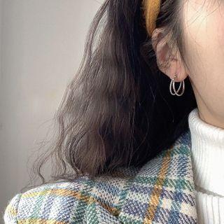 Hansha - 925纯银多层圈环耳环
