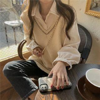 HL哈嘍妹妹 - 純色襯衫 / 毛衣馬甲