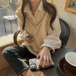 Bloombloom - Camisa de manga larga / Chaleco holgado