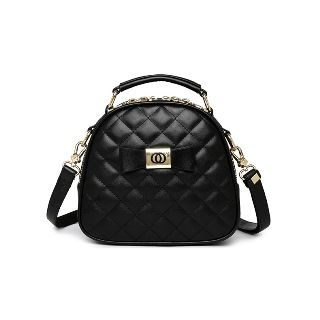 BeiBaoBao(ベイバオバオ) - Faux-Leather Quilted Bow-Accent Satchel