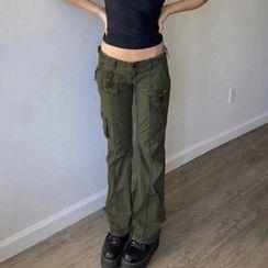 Honet - Cargo Boot-Cut Pants