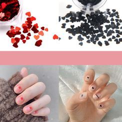 Monoe - Plastic Heart Nail Art Decoration