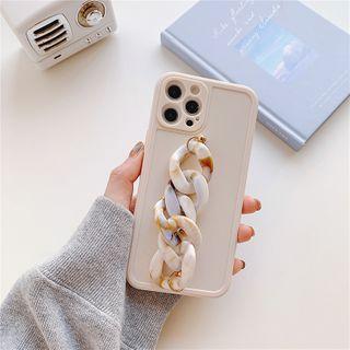 TOLC - Chunky Hand Chain Phone Case - iPhone 12 Pro Max / 12 Pro / 12 / 12 mini / 11 Pro Max / 11 Pro / 11 / SE / XS Max / XS / XR / X / SE 2 / 8 / 8 Plus / 7 / 7 Plus