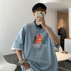 EOW - Short-Sleeve Print Loose-Fit T-Shirt