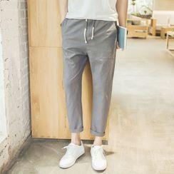 YIKES(ヤイクス) - Plain Cropped Tapered Pants