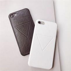 Baripa(バリパ) - Faux Leather Phone Case - iPhone 7 / 7Plus / 6s / 6s Plus