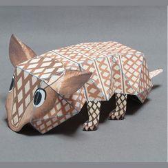 Kamikara - Paper Craft: Surprised Armadillo
