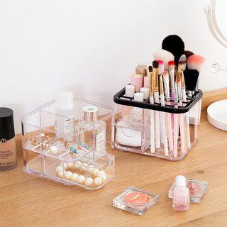Home Simply - Organiseur transparent en plastique pour pinceaux à maquillage