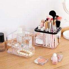Home Simply(ホームシンプリー) - Transparent Plastic Makeup Brush Organizer
