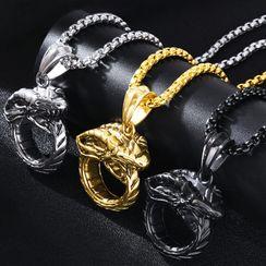 Soosina - Stainless Steel Snake Pendant Necklace