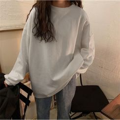 bloomingtide - Long-Sleeve Plain Sweatshirt