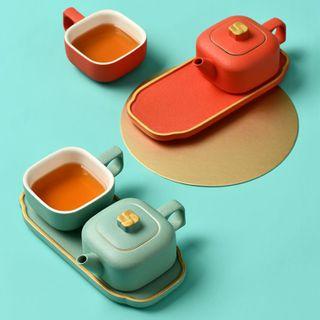 Giffare - Set: Teapot + Tea Cup + Tray + Case