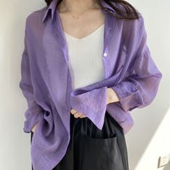 Coolvibe - Long-Sleeve Sheer Shirt