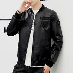 Agamemnon - Faux Leather Zip Jacket
