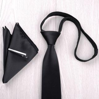 Prodigy - 套裝: 預結領帶 + 領帶夾 + 口袋巾