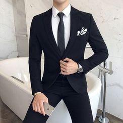 Besto - 套装: 单扣西装外套 + 西裤