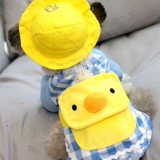 Bixin - 套裝: 刺繡動物寵物帽子 + 寵物上衣