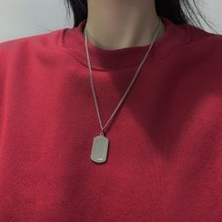 PANGU(パング) - Tag Pendant Stainless Steel Necklace