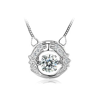 BELEC - 925 Sterling Silver Zodiac Tiger Pendant with Necklace