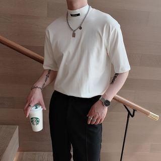 Andrei - Elbow-Sleeve Mock-Neck T-Shirt