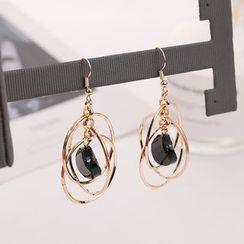 Gioia - Hoop Drop Earring