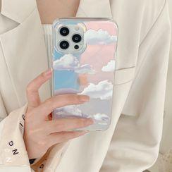 Vachie - Cloud Holographic Phone Case - iPhone 12 Pro Max / 12 Pro / 12 / 12 mini / 11 Pro Max / 11 Pro / 11 / SE / XS Max / XS / XR / X / SE 2 / 8 / 8 Plus / 7 / 7 Plus