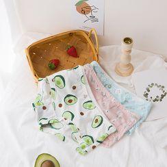 Josei Studio - Set Of 2: All Over Print Panties