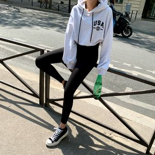 NANING9 - Stretchy Workout Leggings - Black