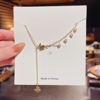 HANJUE - 蝴蝶仿珍珠項鏈