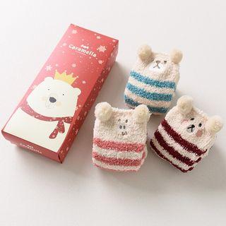 Knit a Bit - Set Of 3 Pairs: Kids Christmas Socks