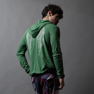 Green Banana - ''Green Banana''Printed Zip Jacket (Green)