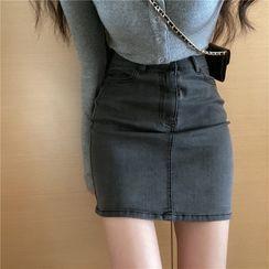 Miss Allurie - Denim Pencil Skirt