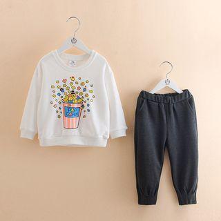 Seashells Kids - Kids Set: Printed Pullover + Elastic Waist Pants