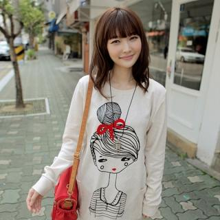 CLICK - Doll-Print Pullover