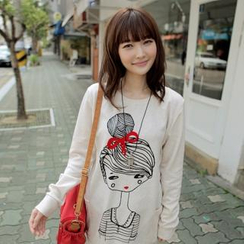 CLICK - Doll-Print Pullover