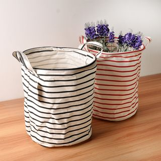 Hyole - Cotton and linen folding storage basket