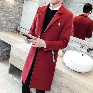 Andrei - Notch Lapel Single-Breasted Coat