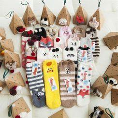 TAHLIA - Cartoon Coral Fleece Socks