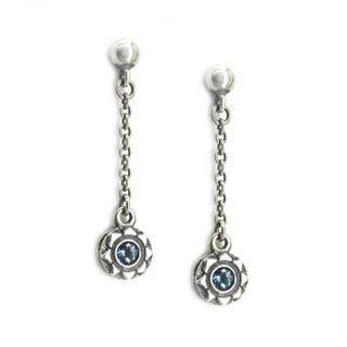 Sterlingworth - Gemstone Sterling Silver Single Drop Earring