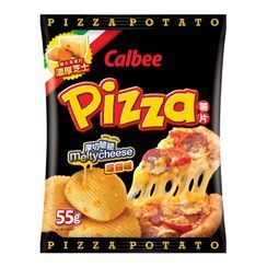 Calbee - Pizza Flavored Potato Chips 55g