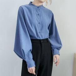 Thous - Mandarin Collar Shirt
