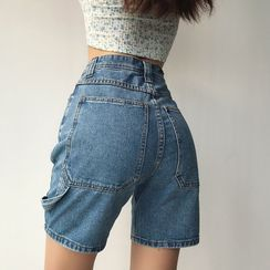 Tiny House - High-Waist Denim Shorts
