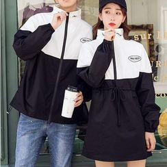 Balak - Couple Matching Zip Jacket / Long-Sleeve Mini Dress