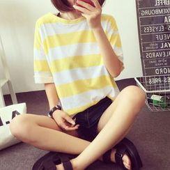 伊之戀 - 條紋短袖T恤