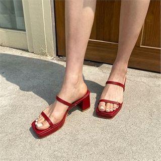 MONOBARBI - Vivid Platform Block-Heel Sandals