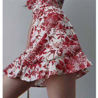 Blingbomb - Floral Print Slim-Fit Sleeveless Dress