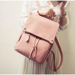 Youshine - Faux Leather Drawstring Backpack